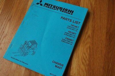 Mitsubishi Caterpillar Fb16kt 18kt 20kt Forklift Parts Manual Catalog Book Cat