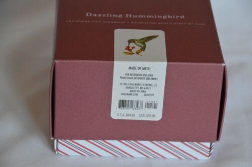 HALLMARK 2016 DAZZLING HUMMINGBIRD MADE OF METAL.OF METAL. NEW IN BOX