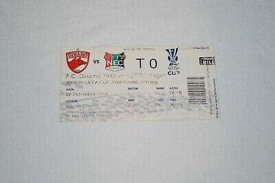 Ticket FC Dinamo Bucuresti - NEC Nijmegen - UEFA Cup - 02/10/2008 - Football