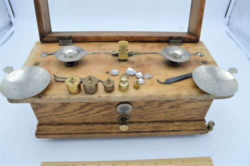 ANTIQUE HENRY TROEMNER APOTHECARY PHARMACY JEWELER SCALE- CLASS B PHILADELPHIA