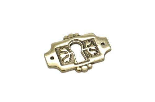 "1 11/16"" Keyhole Cover Plate Escutcheon Furniture KeyHole Cover Brass Lock Plate"