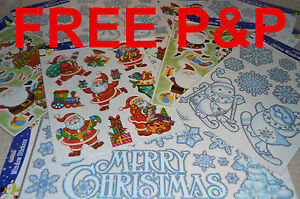 GREAT-REUSABLE-CHRISTMAS-WINDOW-STICKERS-DECOR-SNOWMAN-SNOWFLAKE-CHRISTMASTREE
