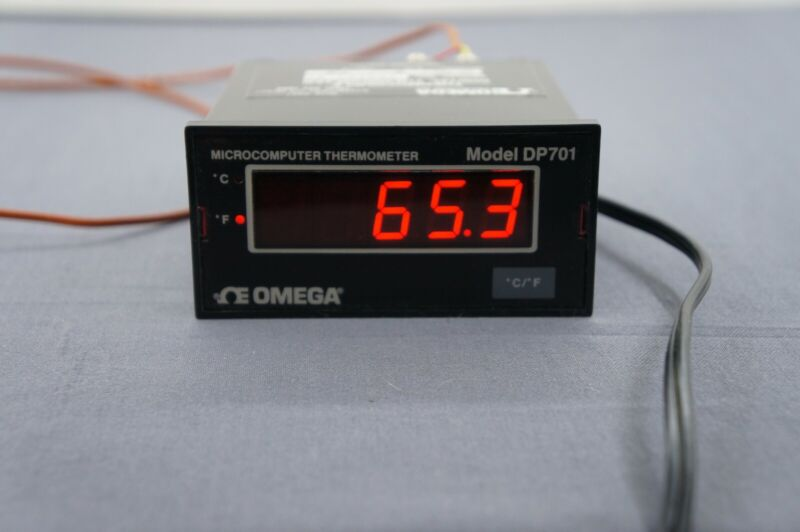 Omega DP701 Microcomputer Type K Thermocouple Digital Thermometer