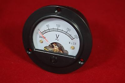 Ac 0-200v Round Analog Voltmeter Voltage Panel Meter Dia. 66.4mm Dh52