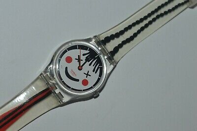 2006 Swatch Watch LK277 FRECKLE Ladies Swiss Quartz Original Plastic 25mm
