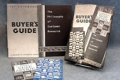 1936 VINTAGE GENERAL MOTORS AUTOMOBILE BUYER'S GUIDE & MORE - FREE USA SHIPPING