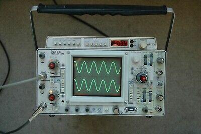 Tektronix 465 Dm44 100mhz Oscilloscope Calibrated Sn B185473 With 2 Probes