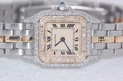 Womens Cartier Panther 18K Gold - Diamonds Everywhere