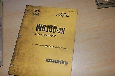 Komatsu Wb150-2n Backhoe Loader Parts Manual Book Catalog List Spare Index 2003