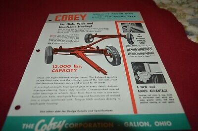 Cobey HC HCW Wagon Running Gear Dealer's Brochure AMIL15 ver2 for sale  Shipping to Canada