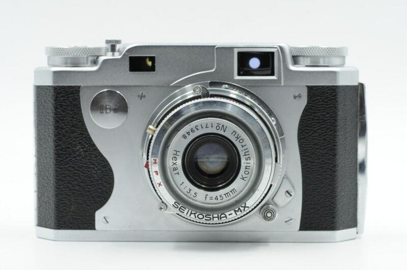 Konica II B-m 35mm Film Rangefinder Camera IIBm w/ 45mm f3.5 Hexar Lens #251