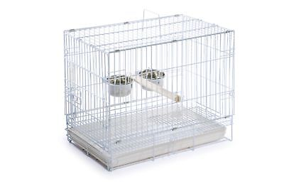 Prevue Hendryx Travel Bird Cage 1305 White, 20-Inch by 12-1/2-Inch by