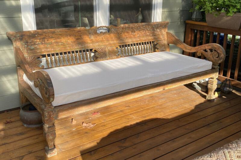 Beautiful Antique Teak Day Bed
