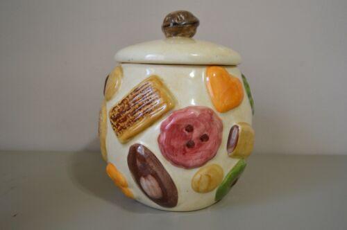 Vintage N S Gustin Cookies All Over Los Angeles Pottery Cookie Jar Rare Orange ❤