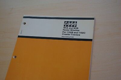 Case 1150b 1150c Tractor Dozer Crawler Hyster W5a W5b Winch Parts Manual Book