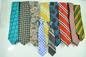 Lot of 10  Vintage Ugly Ties Ashley Blake Talbott Christian Dior Oleg Cassini
