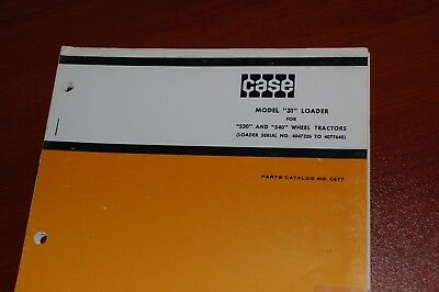 Case Model 31 530 540 Wheel Tractor Loader Parts Manual Book Catalog List Spare