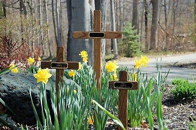 Wooden Marker (WOODEN Handmade Memorial CROSS,Cemetery Grave Marker,Pet Markers, engraved)