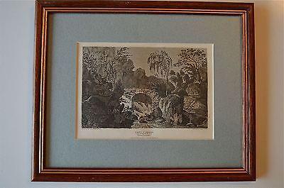 ORIGINAL ANTIQUE FRAMED PRINT PONTYPRYDD GLAMORGANSHIRE WALES CIRCA.1815 18
