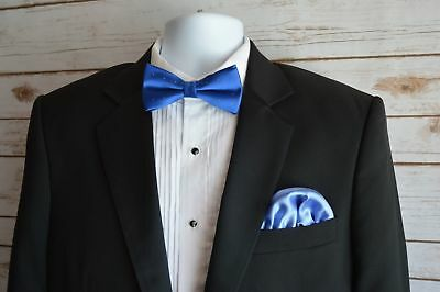 Mens Silk Pocket Square 100% Italian Silk Puff Brand New Free Shipping Blue