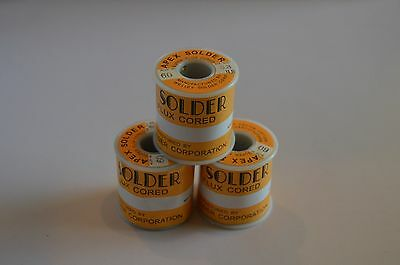 Apex Solder Wire 0.8mm .031 6040 Solder Wire 1 Lb Free Shipping
