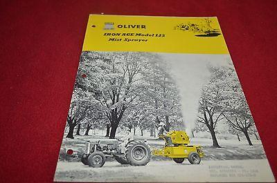 Oliver Tractor 125 Iron Age Mist Sprayer Dealer's Brochure YABE12