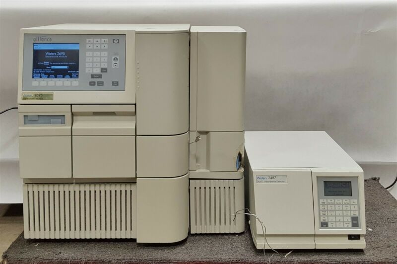 Waters Alliance 2695 HPLC Separations Module+2487 Dual Detector+Column Heater
