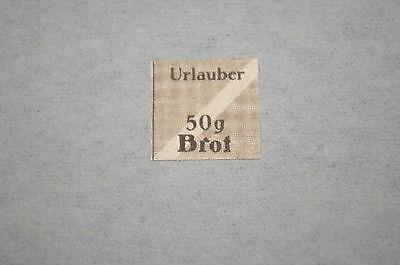 Deutsches Reich Lebensmittelmarke geschnitten *50 g Urlauber-Brot*  3. Reich