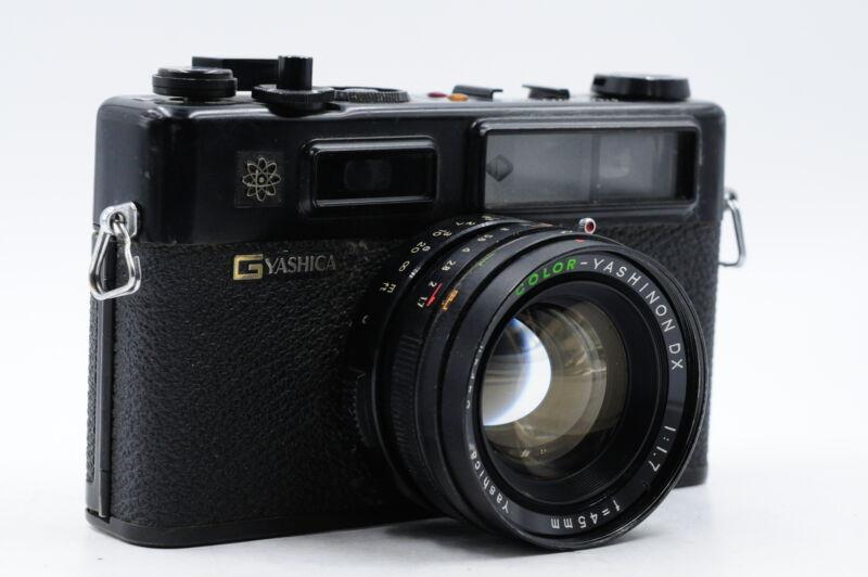 Yashica Electro 35 GT Black Rangefinder Film Camera w/45mm f1.7 Lens #436