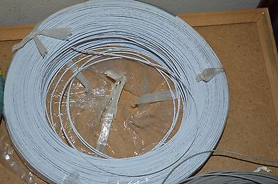 22 Awg Gauge Solid Hook Up Wire White 50ft 300 Volts