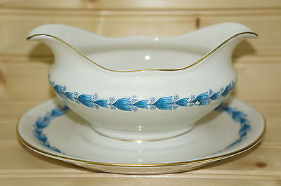 """Castleton Classic Gravy Boat with attached Underplate 8"""" x 6 1/2"""""""