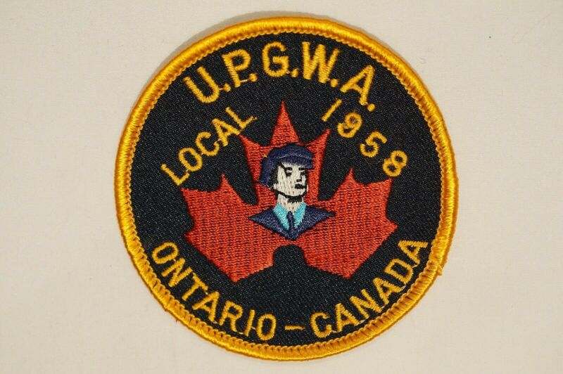 Canadian Ontario UPGWA/SPFPA Police Fire Security Local 1958 Patch 2