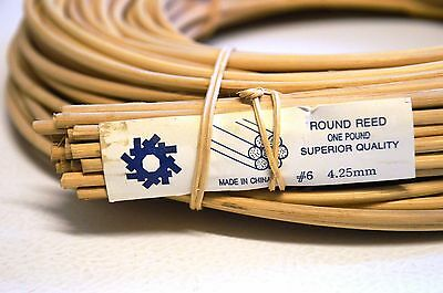 Round Reed #6 4.25mm To 4.5mm 1lb Coil-Approximately 160'.