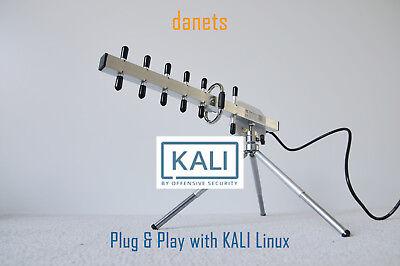 2200mW USB-Yagi TurboTenna WiFi antenna PLUG and PLAY with KALI LINUX BACKTRACK6