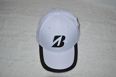 BRIDGESTONE ~ GOLF ~ HEADWEAR CAP HAT ~ WHITE ~ ADJUSTABLE STRAP ~ NEW WITH  TAGS 0e21624c6e74