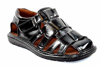 Closed Toe Fisherman Sandal - New  Fisherman Casual Sports Men Closed Toe Sandals Black or Brown-53