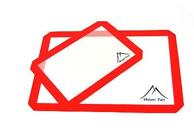 Premium Non-Stick Silicone Baking Mat Set 2-Pack RED