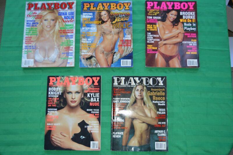 Playboy Magazine Lot of 8 Year 2000-2001