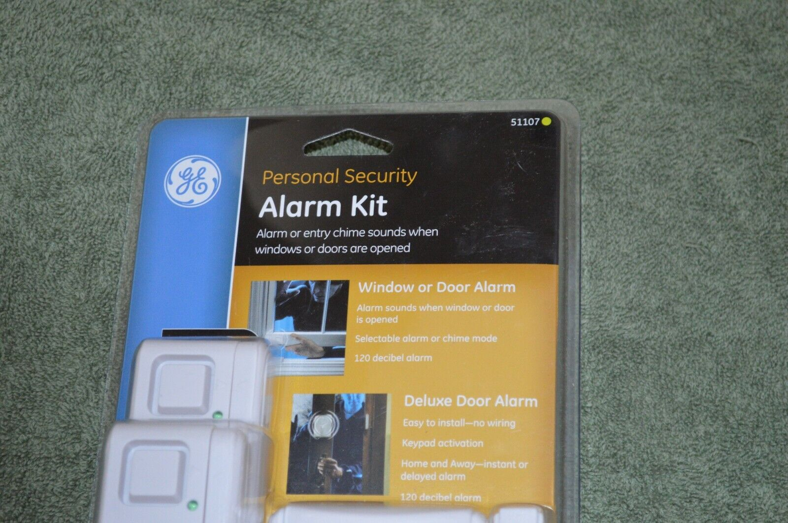 NEW GE Window Or Door Alarm Kit Personal Security Entry Chime Mode 51107  - $22.00