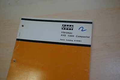 Case Avs 1300 Compactor Parts Manual Spare List Vibratory Plate Walk Behind 1979