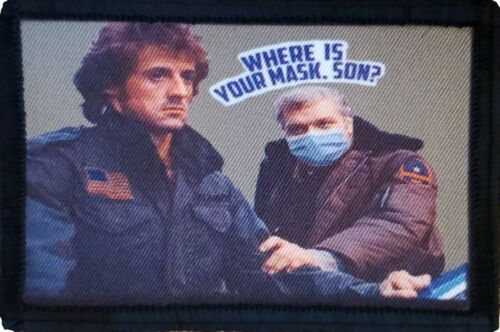Rambo Face Mask First Blood  Morale Patch Funny Tactical Military USA flag