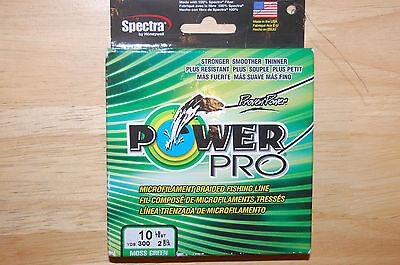power pro fishing line braid 10lb 300yds moss green spool spectra fiber