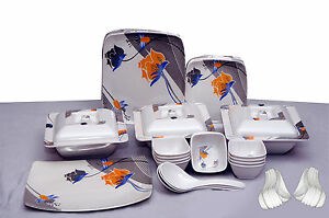 Geeta-Diamond-Sqaure-24-Pcs-Melamine-Dinner-Set-LE-GDS-002-Customized-Packing