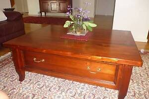 Coffee Table Solid Oregon  with storage drawers 1200 X 900mmm Berowra Heights Hornsby Area Preview