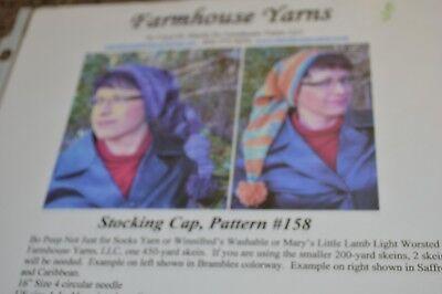Farmhouse Yarns Knitting Pattern Stocking Cap #158