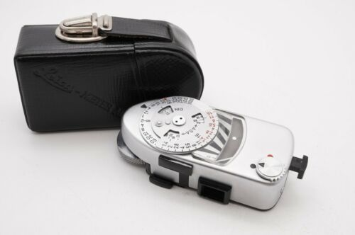 [EXC+5 w/ Case] Leica Meter MR-4 MR4 Silver Chrome For M2 M3 M4 From Japan