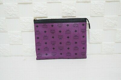 100% Authentic MCM Visetos Limited VIP Edition Purple Pouch