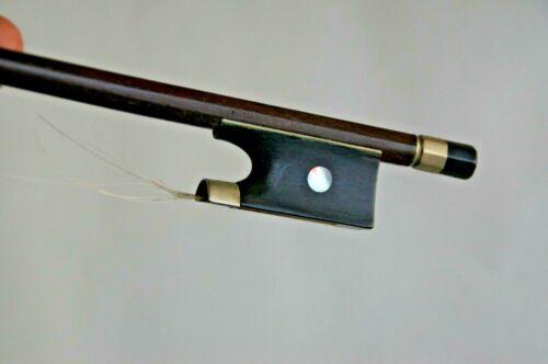Vintage Old Violin 4/4 size Bow  Signed Stamped  L.Wenzel   смычок 小提琴弓 バイオリンの弓