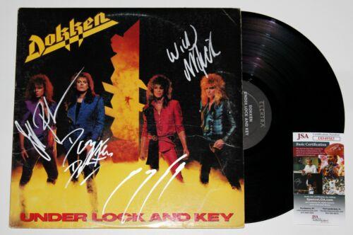 DOKKEN SIGNED UNDER LOCK & KEY LP VINYL RECORD ALBUM AUTOGRAPH COMPLETE BAND JSA