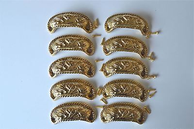 10 brass antique cup drawer handle dresser draw pull handle c/w screws 2002